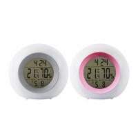 晨光C92573电子温湿度计 电子表 家用温度湿度表 带闹钟 单个装 颜色随机
