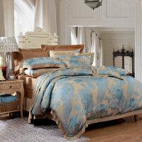 欧式酒店床上用品全棉纯棉床单四件套欧美风1.8m床简约大气