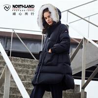 【品牌特惠】NORTHLAND诺诗兰羽绒服女式中长款户外运动抗寒加厚潮牌KD082510