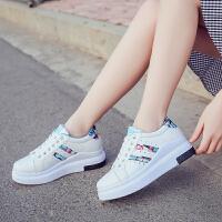 春夏新款休闲鞋女士小白鞋厚底韩版内增高板鞋学生鞋百搭单鞋