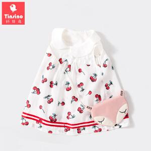 【1件3折价:50.7】纤丝鸟(TINSINO)女童裙子婴儿棉质连衣裙宝宝夏季衣服