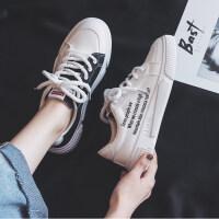 鸳鸯学生帆布鞋女2019夏季韩版百搭网红小白鞋ins板鞋女鞋潮布鞋 白色 35 女款
