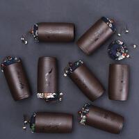 汉馨堂 茶叶罐 小号普洱存储罐梅兰竹菊防潮茶罐功夫茶具茶道配件