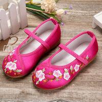 儿童绣花鞋女中国风古装老北京汉服童鞋子民族风女童宝宝公主布鞋 枚