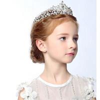 儿童时尚女孩皇冠发饰公主头饰  新款皇冠发箍新娘头箍钻饰