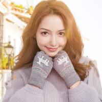 触屏手套女士冬季保暖可爱户外学生毛线