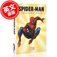现货 英文原版 蜘蛛侠明信片图鉴 精装 漫威周边 Spider-Man Postcard Book