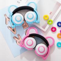 耳机头戴式女学生 儿童手机电脑带麦音乐通用
