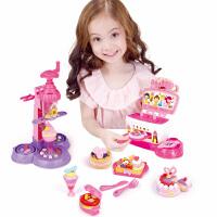 迪士尼Disney 儿童彩泥 蛋糕甜品套装 雪糕机模具套装小麦泥橡皮泥黏土公主女孩玩具DS-1687