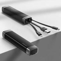 【新品】 数据线三合一快充苹果充电器线短便携一拖三安卓type-c闪充华为手机多功能通用超短款二