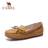 Camel/骆驼女鞋 夏季新款休闲平底豆豆鞋女舒适女单鞋乐福鞋女
