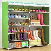 林仕屋简易鞋架多层家用收纳鞋柜布艺简约现代经济型防尘鞋架子0603C-1CH