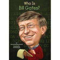 【现货】英文原版 Who Is Bill Gates? 比尔盖茨是谁 名人认知系列 中小学生读物