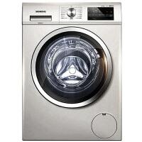 西门子(SIENMENS)8公斤 带烘干滚筒洗衣机 WD12G4691W 银色