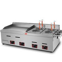 商用手抓饼燃气扒炉炸炉一体机铁板烧设备多功能三合一