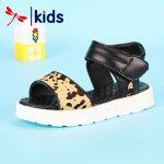 【1件2折后:59元】红蜻蜓夏季新款透气女童可爱童鞋时尚防滑软底舒适魔术贴儿童凉鞋