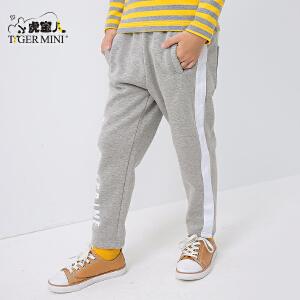 小虎宝儿童装儿童裤子加绒加厚冬男3-5岁男童运动长裤2018新款潮