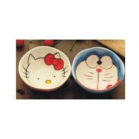 日照鑫 包邮 可爱HELLO KITTY猫卡通陶瓷碗日式创意学生米饭碗家用微波炉餐具(一个装)
