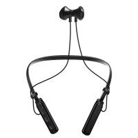 后挂运动蓝牙耳机金属磁吸重低音CR颈挂式耳机