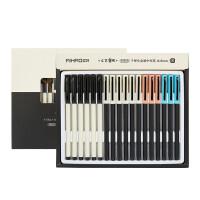 爱好金属中性笔 165全针管水笔 49923 子弹头学生考试笔 0.5mm办公签字笔 单支颜色随机