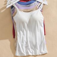 吊带背心女士外穿无钢圈免穿文胸打底衣罩杯一体内衣瑜伽服
