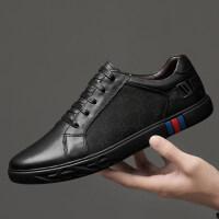 品牌欧洲站男鞋商务休闲皮鞋轻奢办公上班欧美风英伦潮鞋透气