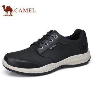 camel 骆驼男鞋 运动休闲鞋真皮百搭旅游磨砂皮鞋