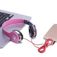 歌头戴式耳机通话重低音带麦拉伸折叠手机电脑游戏通用