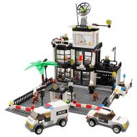 开智 积木 塑料消防大型套装警察总署男孩礼物6岁以上组装拼搭拼插亲子互动拼装游戏儿童玩具用品