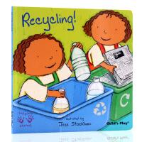 英文原版绘本Helping Hands Recycling 好帮手系列 环保 吴敏兰书单 child's play
