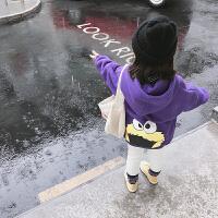 女宝宝加绒卫衣儿童上衣