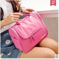 简单大方纯色手提包防水女化妆包手包旅行大容量洗漱包男士便携出差收纳袋