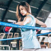 韩国MONODIO正品功能性运动背心女夏季长款宽松无袖跑步健身罩衫瑜伽服上衣 MT0102