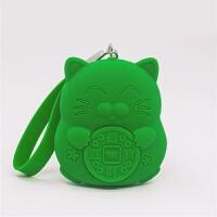 便携迷你零钱包硬币包硅胶猫零钱包 钥匙包小礼品
