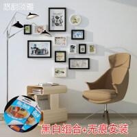 实木照片墙装饰简约现代客厅大尺寸创意挂墙个性相框墙组合相片墙