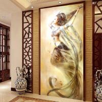 印花十字绣新款客厅敦煌飞天反弹琵琶美女仙女人物观音油画系列 蒙娜丽莎进口绣线 生态棉绣布