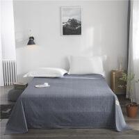 【】放心购 全棉网红床单单件纯棉简约1.5单人学生宿舍被单双人200x230