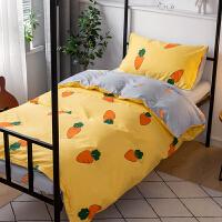 学生宿舍床上三件套单人纯棉少女床单被套0.9米1.2m寝室床上用品 0.9m学生床 全棉三件套【适合150*200CM