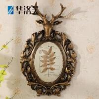 家里的装饰品鹿头壁挂美式鹿头壁挂壁画花盆家居壁饰客厅墙壁复古装饰挂件欧式墙画墙饰G