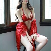 睡衣女夏冬吊带火辣镂空透明性感诱惑激情套装情调裙 均码