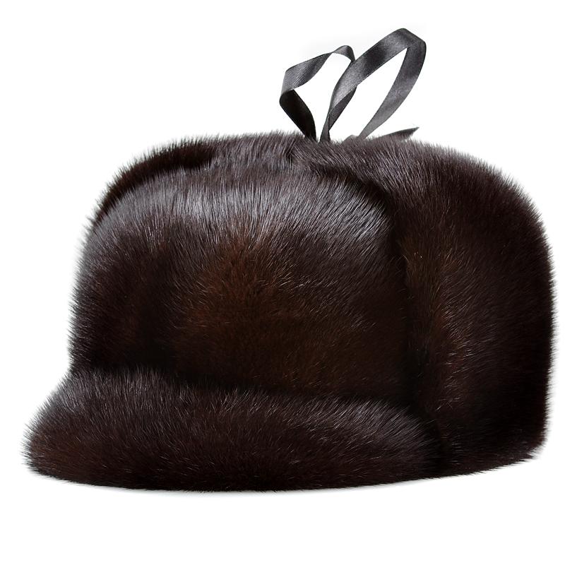 皮草帽子男士帽子男款真皮草帽子顶雷锋帽子冬季保暖
