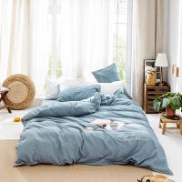 20191108161639890水洗棉全棉四件套纯棉简约被套纯色床单超柔裸睡超柔床上用品