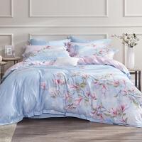 床上四件套全棉纯棉被套1.8m双人床单贡缎家用宿舍被罩 WED5093-4 -浪漫花都