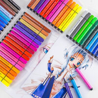 马可水彩笔24色儿童用绘画宝宝36色安全可水洗幼儿园小学生用彩色画笔套装可洗美术涂鸦画笔画画彩笔