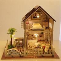 智趣屋diy小屋巴黎公寓手工生日礼物拼装 玩具创意房子模型 别墅