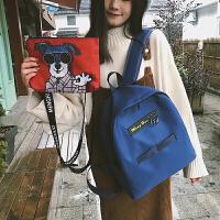 书包女韩版原宿 高中学生校园背包卡通可爱帆布双肩包