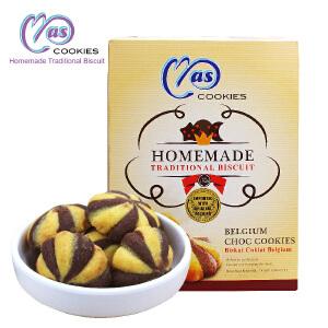 马来西亚进口 麦阿思巧克力味夹心松脆曲奇饼干 110g