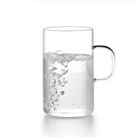 尚明玻璃杯高硼硅耐热透明玻璃水杯直身杯花茶杯茶具水杯情侣杯套装男女杯个人办公杯果汁杯 CP-32/2 300ml 两只