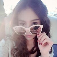 明星款墨镜潮人太阳镜女半框大圆脸偏光镜片网红