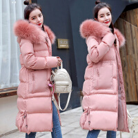 羽绒女中长款过膝棉衣冬装2018新款韩版冬季加厚外套修身棉袄
